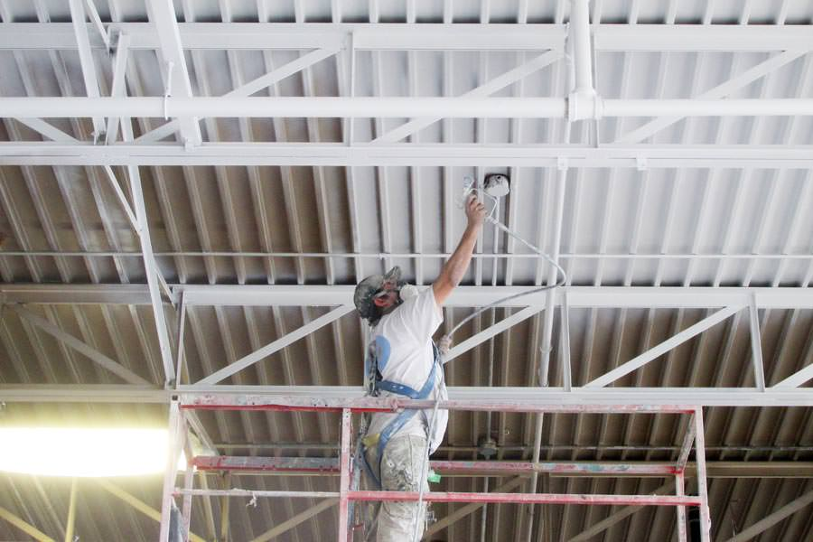 Ceiling Painting L Metal Ceiling Painters For Warehouses