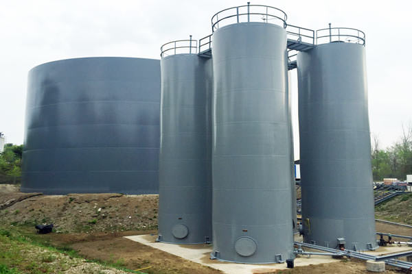 painting silos and storage tanks